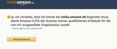 Smile.Amazon Nachteile
